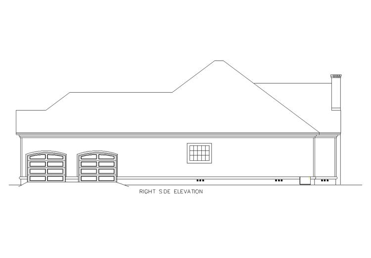 Вид справа План 1-этажного дома 15x23 196 кв м