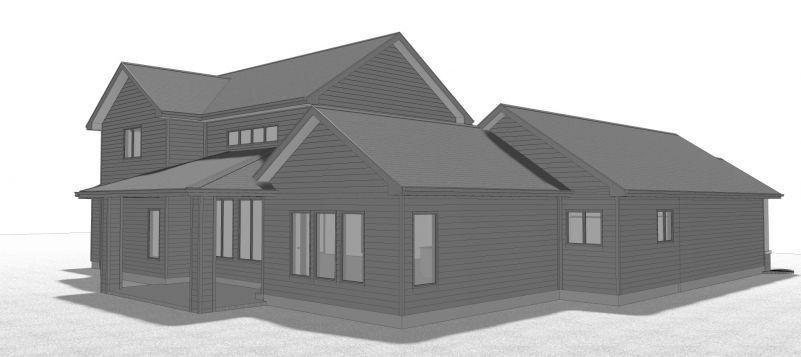 Интересный проект одноэтажного дома с мансардой в современном стиле площадью 275 кв.м с большим гаражом и с 4 спальнями подходит для постоянного проживания.