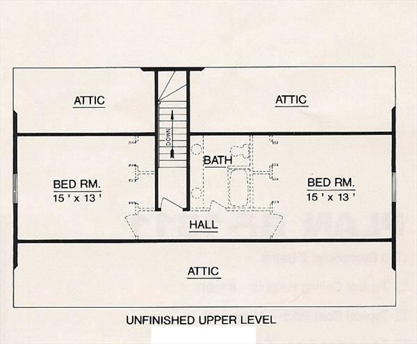 План 2 этажа План 2-этажного дома 15x9 127 кв м
