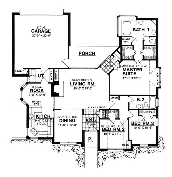 План 1 этажа План 1-этажного дома 17x16 159 кв м
