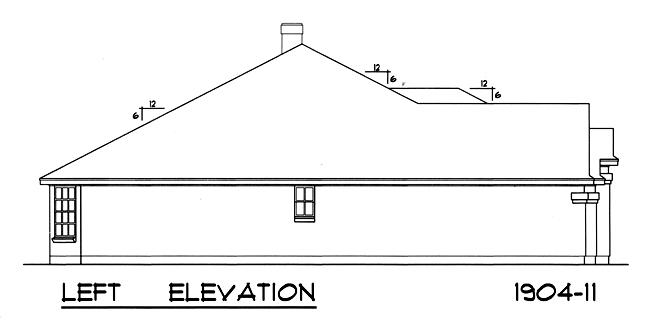 Вид слева План 1-этажного дома 15x17 177 кв м