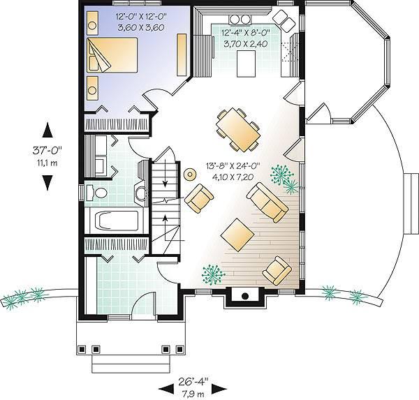 Замечательный проект одноэтажного дома с мансардой в дачном стиле площадью до 150 кв.м с 3 спальнями подходит  для дачи.