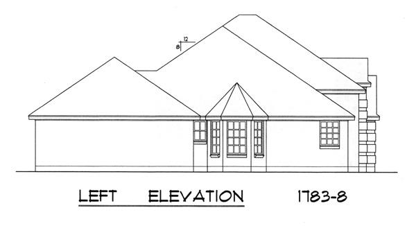 Вид слева Проект красивого кирпичного дома в стиле Прованс