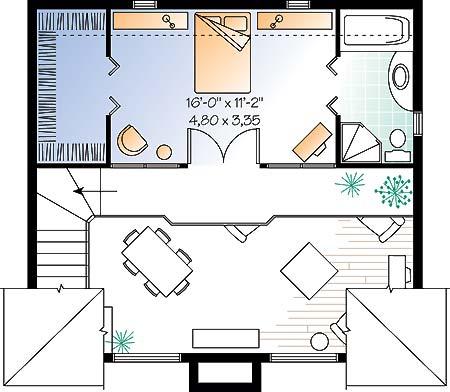 Этот популярный проект одноэтажного дома с мансардой в дачном стиле 8 на 7 метров площадью  до 150 кв.м с одной спальней подходит  для дачи . В большой спальне есть ванная. Также перед домом есть веранда..