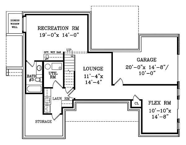 План цокольного этажа Проект дома