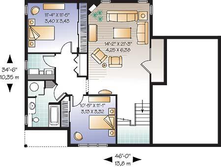 План цокольного этажа План с жилым цоколем