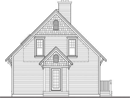Передний фасад План DR-3287-2-3 двухэтажного дома 9 на 9 до 150 кв м