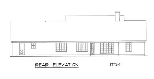 Вид сзади План 1-этажного дома 23x12 165 кв м