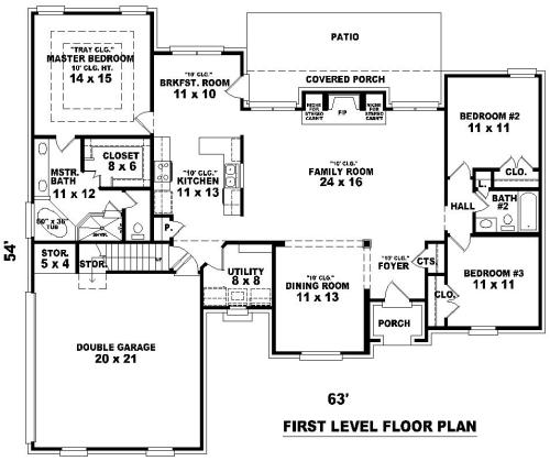 Этот практичный проект одноэтажного дома с мансардой в стиле прованс площадью  до 200 кв.м с гаражом на 2 машины и с 3 спальнями подходит для постоянного проживания. Также сзади дома пристроена веранда..