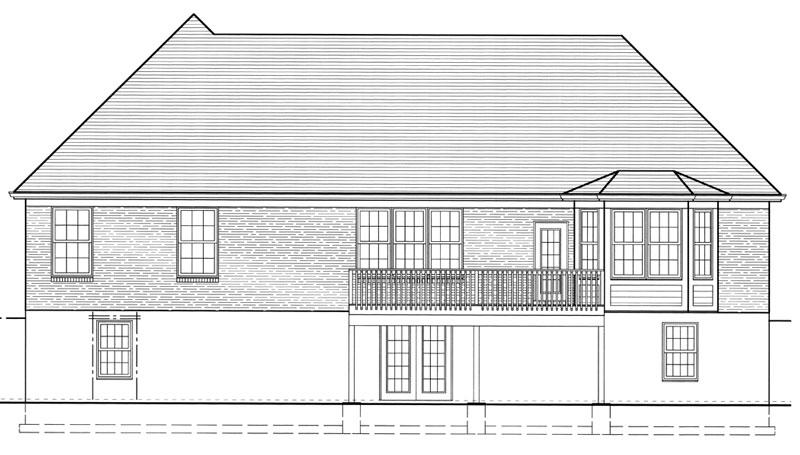 Этот удобный проект одноэтажного дома  площадью  до 200 кв.м с гаражом на 2 машины и с 3 спальнями подходит для постоянного проживания. В большой спальне есть ванная. В проекте дома есть терраса..