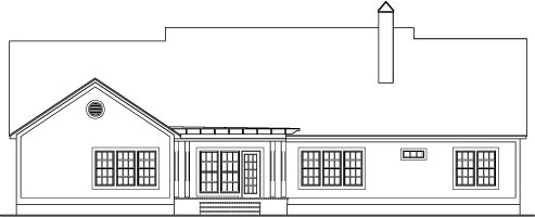 Хорошая планировка План 1-этажного дома  V-3650-1-4 с 4 спальнями 194 кв м