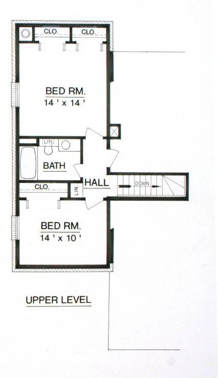 План 2 этажа План 2-этажного дома 11x15