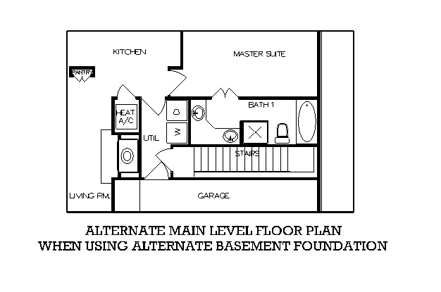 План цокольного этажа План 1-этажного дома с 4 спальнями 156 кв м