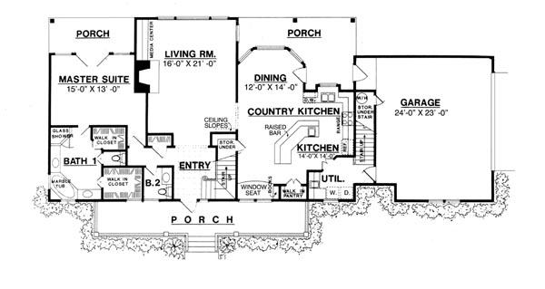 План 1 этажа План дома с мансардой и тремя верандами