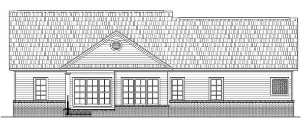 Вид сзади Проект дома в американском стиле с верандой и мансардными окнами
