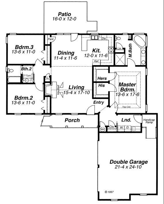 План 1 этажа План 1-этажного дома 17x18 156 кв м