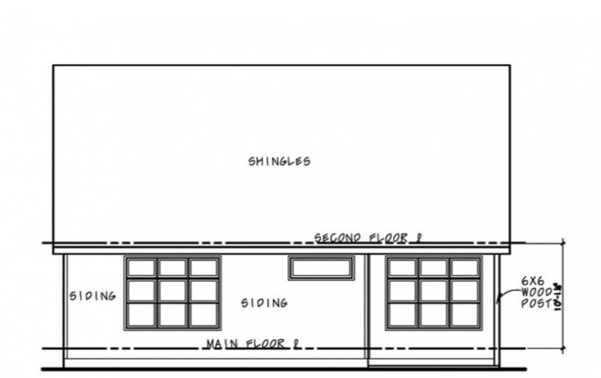 Проект красивого дома с мансардой и встроенным гаражом. Часть фасада облицована кирпичом. В доме 2 спальни: одна внизу, другая наверху.