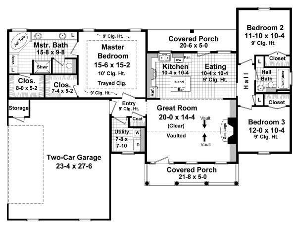План 1 этажа План 1-этажного дома 20x15 149 кв м