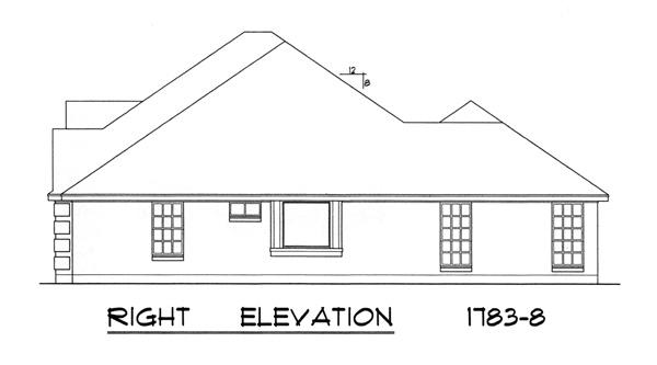 Вид справа Проект красивого кирпичного дома в стиле Прованс