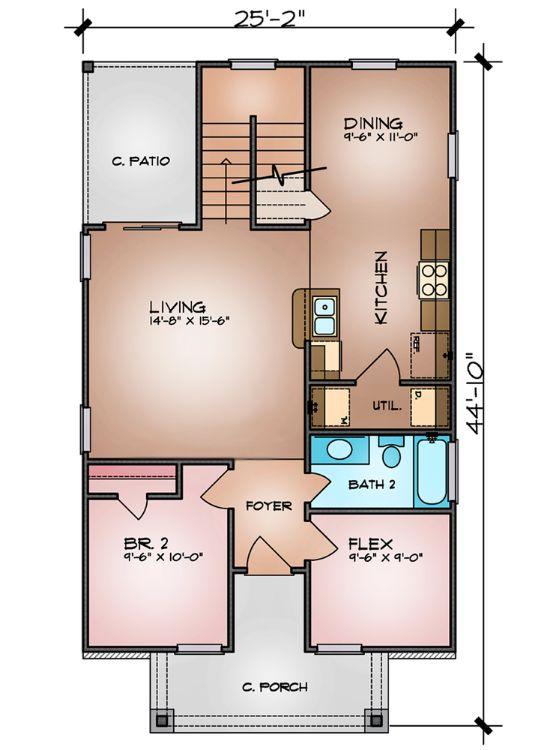 Этот симпатичный проект двухэтажного каркасного дома площадью  до 150 кв.м с 3 спальнями подходит для постоянного проживания. В проекте дома есть терраса..