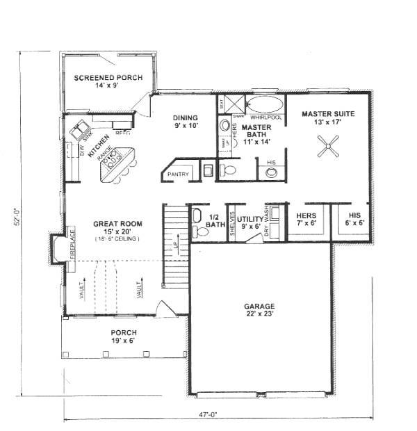 План 1 этажа План 2-этажного дома 14x16 с застекленной верандой