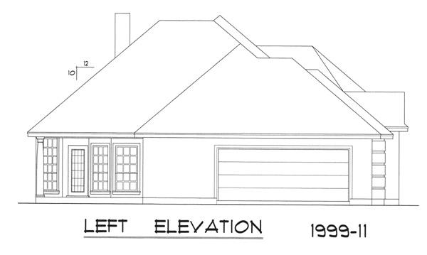 Вид слева Дом в европейском стиле с вальмовой крышей