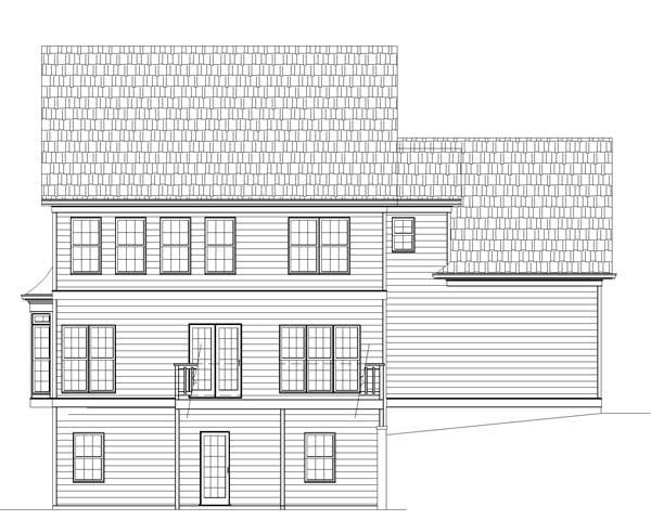 Вид сзади План 2-этажного дома 15x11 186 кв м