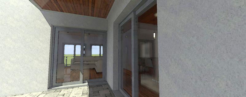 Раздвижные двери на террасу. Проект TD-44110