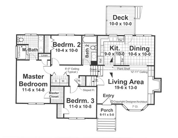 Интересный проект одноэтажного дома 8 метров площадью  до 150 кв.м с гаражом на 2 машины и с 3 спальнями подходит  строительства дома с цокольным этажом на участке с уклоном и  для строительства дома с цокольным этажом на склоне . В проекте дома есть терраса..