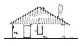 Вид справа Проект деревянного дома для строительства в холодном климате WG-5517
