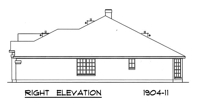 Вид справа План 1-этажного дома 15x17 177 кв м
