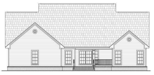 План 1-этажного дома 19x23 223 кв м