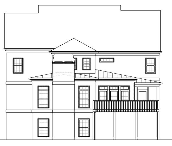 Вид сзади План 2-этажного дома 13x16 JL-1427-2-5