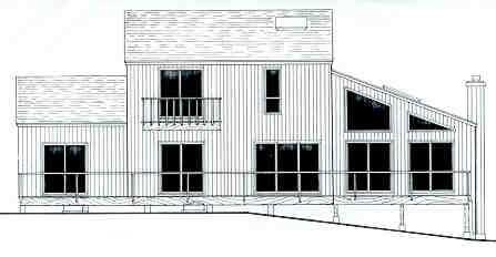 Этот удобный проект двухэтажного каркасного дома  площадью  до 200 кв.м с гаражом на 2 машины и с 4 спальнями подходит  строительства дома с цокольным этажом на участке с уклоном и  для строительства дома с цокольным этажом на склоне .