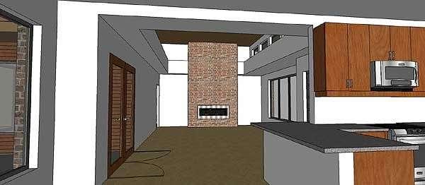 Интересный проект одноэтажного дома в современном стиле площадью  до 200 кв.м с гаражом на 2 машины и с 4 спальнями подходит для постоянного проживания.