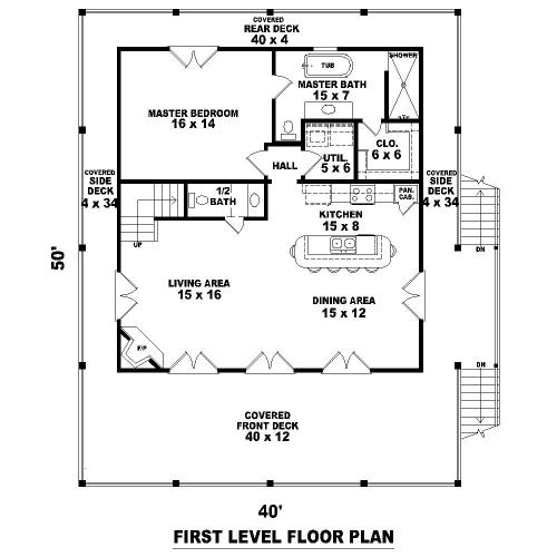 План 1 этажа План 2-этажного дома 12x15 161 кв м