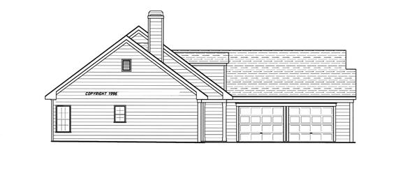 Вид слева План 1-этажного дома 17x18 156 кв м