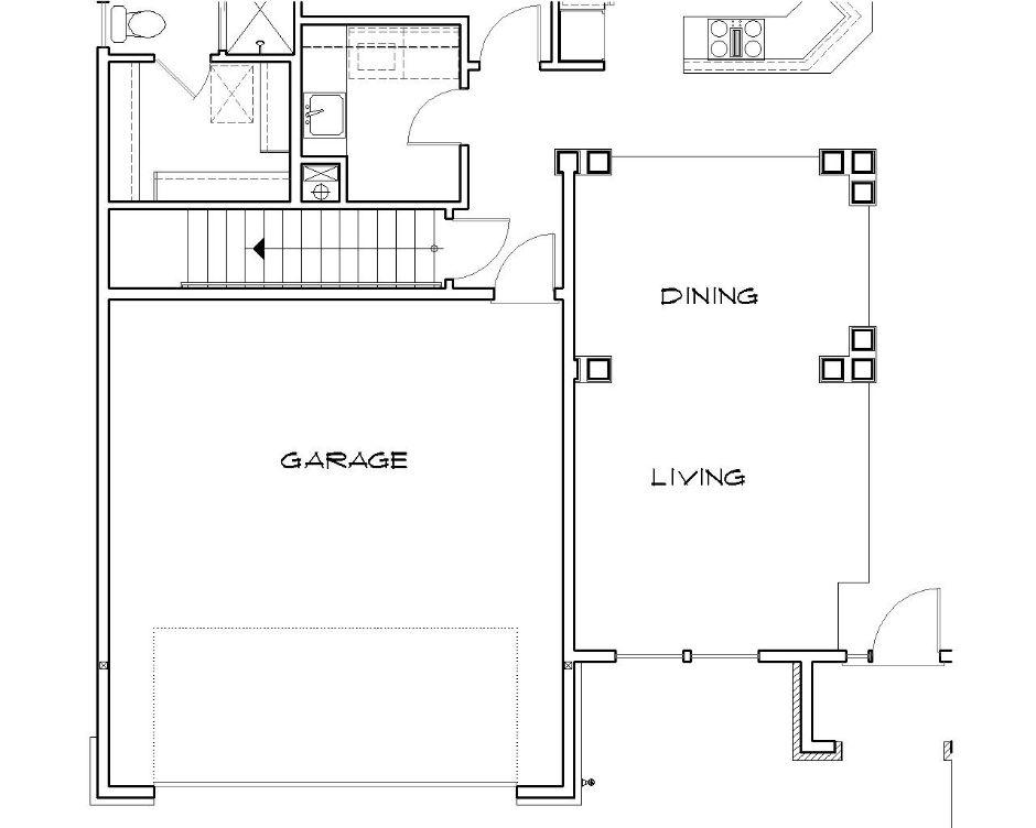 Этот красивый проект одноэтажного дома  площадью  до 200 кв.м с гаражом на 2 машины и с 3 спальнями подходит для постоянного проживания. В большой спальне есть ванная. Также сзади дома пристроена веранда..