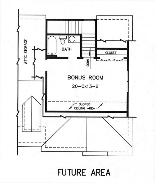 План мансарды План 2-этажного дома KD-7733-2-1 174 кв м
