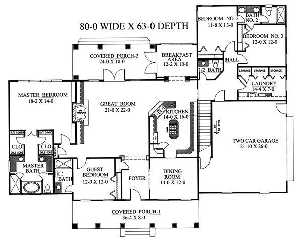 План 1 этажа План 1-этажного дома 24x19 248 кв м