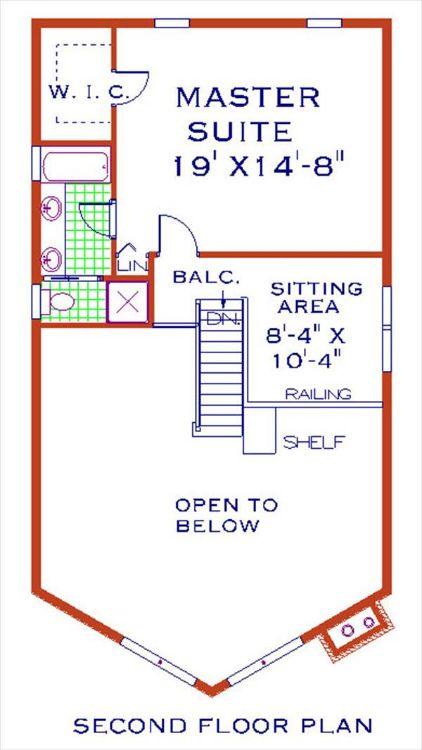 План 2 этажа Проект одноэтажного дома с мансардой 8x14 в стиле шале