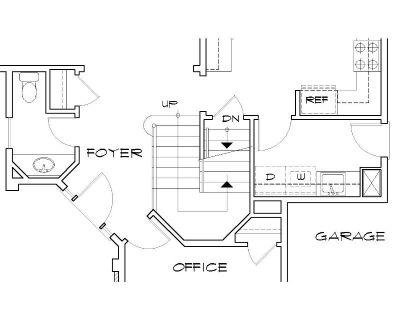 Этот удобный проект двухэтажного каркасного дома в американском стиле площадью  до 200 кв.м с большим гаражом и с 3 спальнями подходит для постоянного проживания. В большой спальне есть ванная. Также перед домом есть веранда..