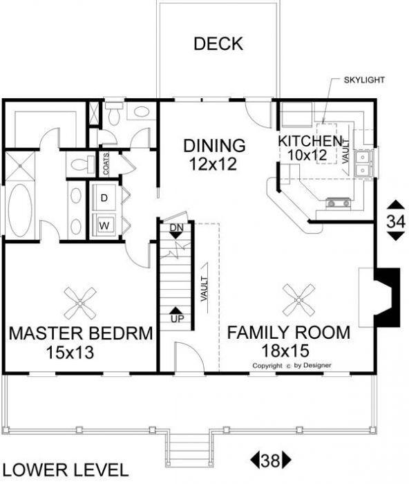 План 1 этажа План 2-этажного дома 12x10 153 кв м