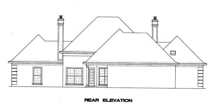 Вид сзади План 1-этажного дома 22x20 188 кв м