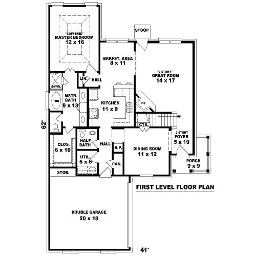 Этот симпатичный проект двухэтажного каркасного дома площадью до 200 кв.м с гаражом на 2 машины и с 4 спальнями подходит для постоянного проживания.