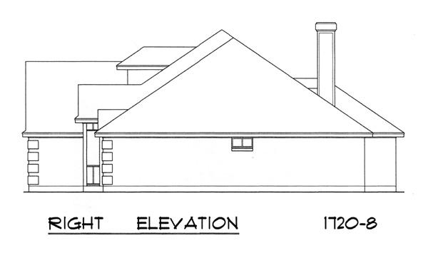 Вид справа Проект одноэтажного каркасного дома с кирпичным фасадом н-образной формы с верандами во внутренних двориках