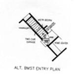 Расположение лестницы в подвал План 1-этажного дома 25x19 192 кв м