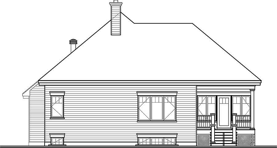 Этот привлекательный проект одноэтажного дома в американском стиле площадью  до 150 кв.м с гаражом на 2 машины и с 2 спальнями подходит для постоянного проживания. В большой спальне есть ванная. Также перед домом есть веранда..