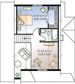Этот симпатичный проект одноэтажного дома с мансардой в дачном стиле 7 на 9 метров площадью  до 100 кв.м с 3 спальнями подходит  для дачи . Также перед домом есть веранда..