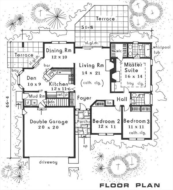 План 1 этажа План 1-этажного дома 16x14 141 кв м